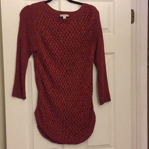 Dress Barn rust woven tunic sweater